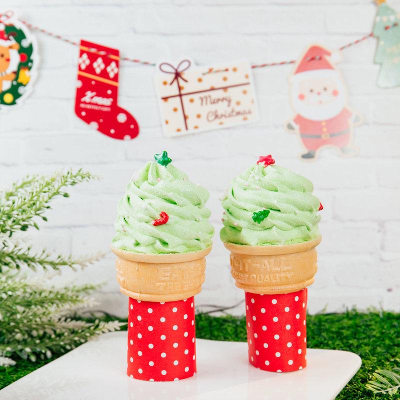聖誕樹棉花糖冰淇淋