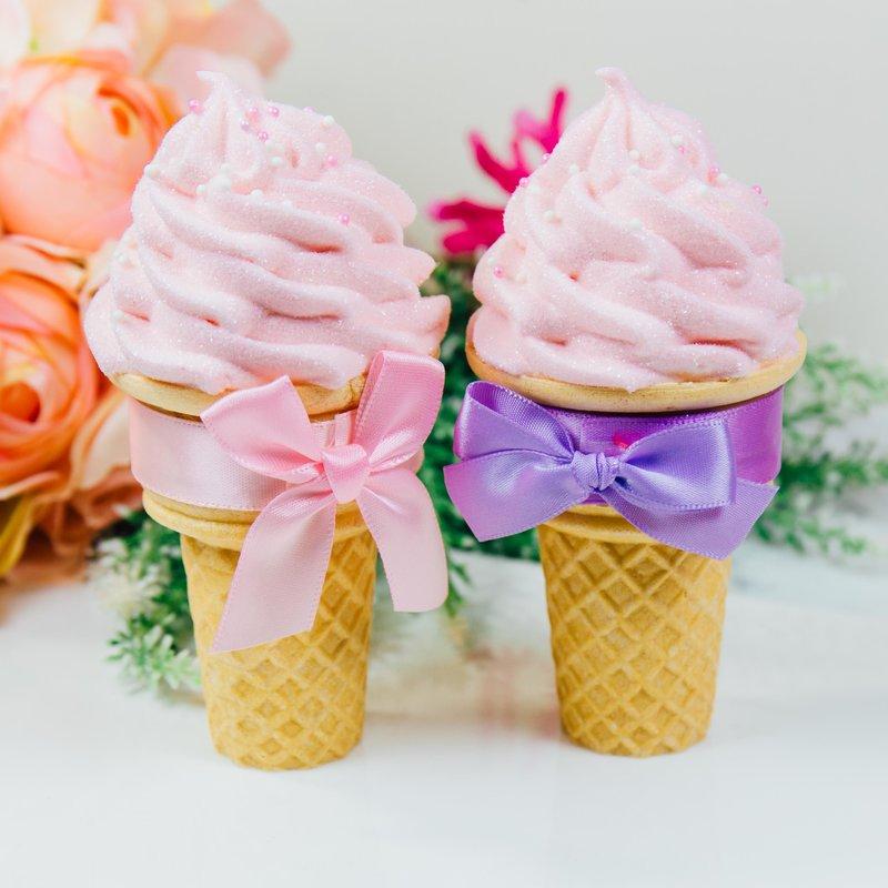 純手工嫩粉款冰淇淋棉花糖