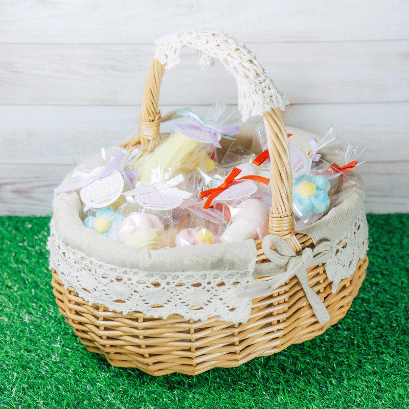 創意造型棉花糖小提籃組
