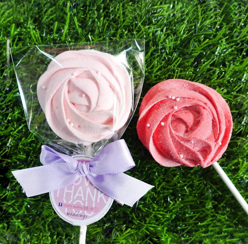 玫瑰造型手工棉花糖