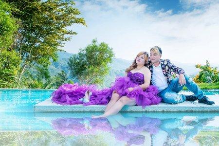厚片甜姐兒 紫色迷情婚紗
