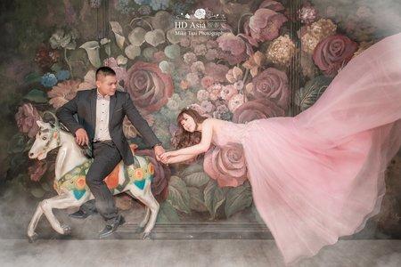 夢幻甜美浪漫雪青紫色禮服
