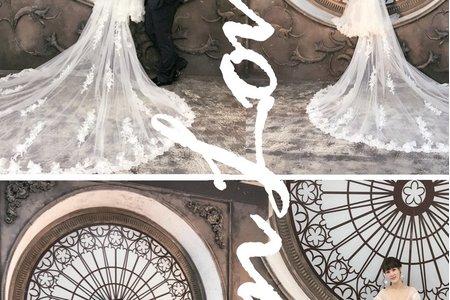 純淨清新浪漫特製3.5米白紗