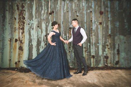 深色系 顯瘦厚片新娘婚紗