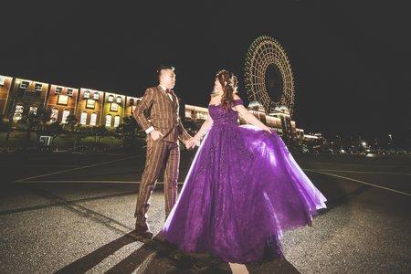 大尺碼婚紗 深紫色顯瘦➕淡紫色仙子風格