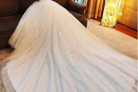 大尺碼浪漫白紗