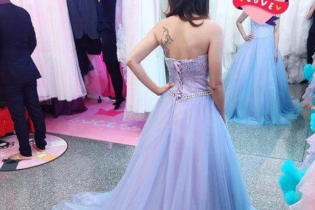 莫迪蘭色 紫色婚紗