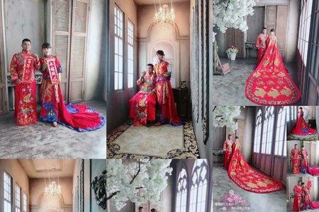 中式秀禾服&龍袍馬掛中式婚紗