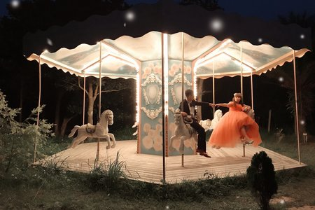 婚紗拍照蜜桃🍑粉厚片甜甜禮服ㄓㄨㄢㄑㄩㄉ