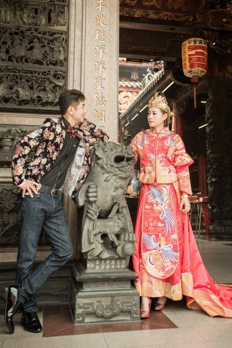 中式禮服創意婚紗作品