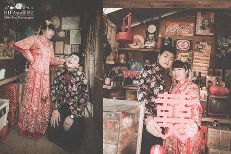 中式特色婚紗