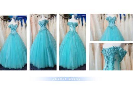 小清新氣質👗 Tiffany藍綠婚紗