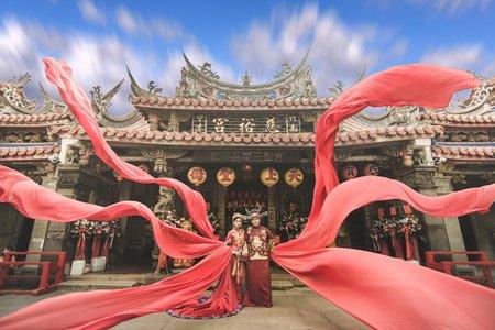 中式龍袍馬褂 秀禾服