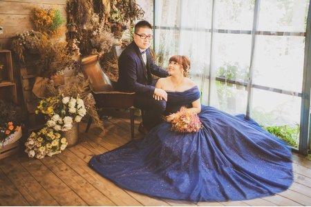星空🌃時尚藏藍婚紗