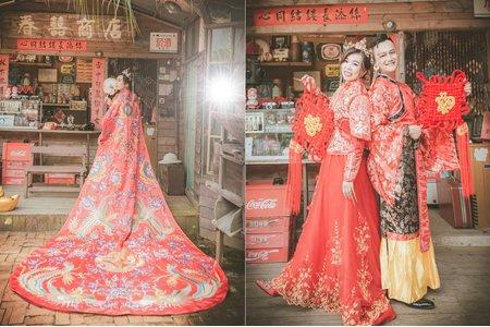 俏皮中式禮服