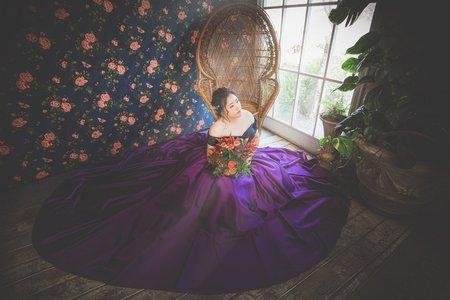 拍婚紗 各類花面 緞面婚紗