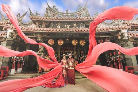 中式龍袍 秀禾服 旗袍 中式婚紗
