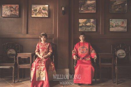 威廉王經典婚禮 │ 中式婚紗