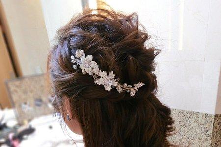 浪漫甜美編髮