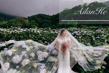 婚紗繡球個人婚紗寫真(手機直出側拍)