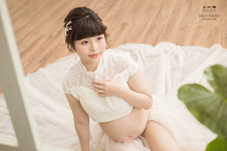 孕婦寫真作品-中國風情兩件式禮服