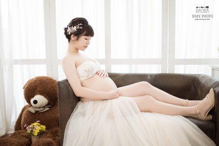 孕婦寫真作品-兩件式簡約紗裙
