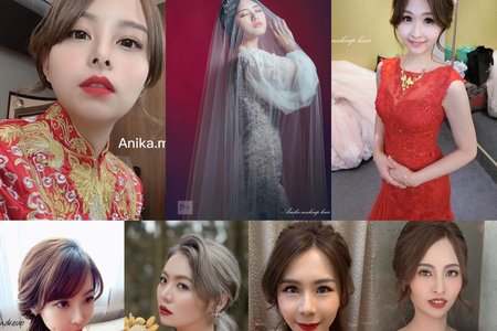 Anika訂婚x紅禮服造型