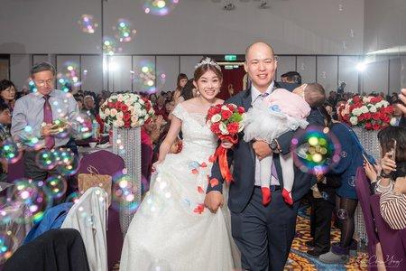 婚禮紀錄WEDDING   台中臻愛會館-臻愛廳    幸運草攝影工坊