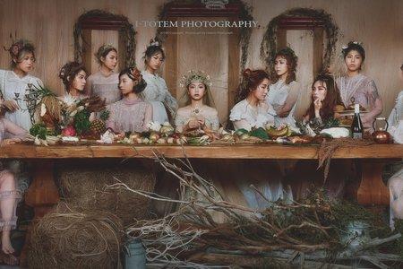 最後的晚餐妝髮創作-水果/麵/艾圖特攝影工作室