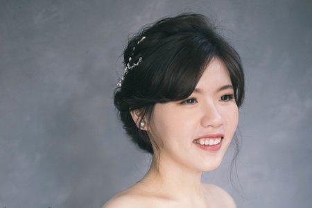 新娘造型 低盤髮