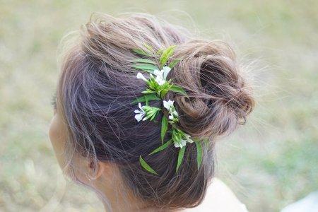 婚紗外拍 鮮花包頭