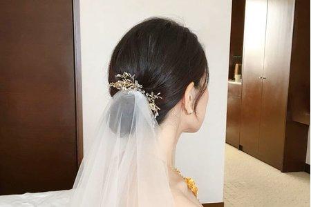 白紗簡約盤髮