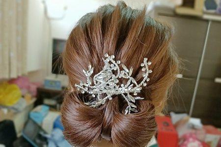新娘指定蝴蝶結造型,蝴蝶結髮型,高馬尾