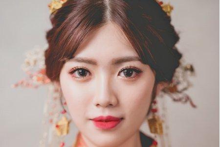 中式禮服同心結髮型