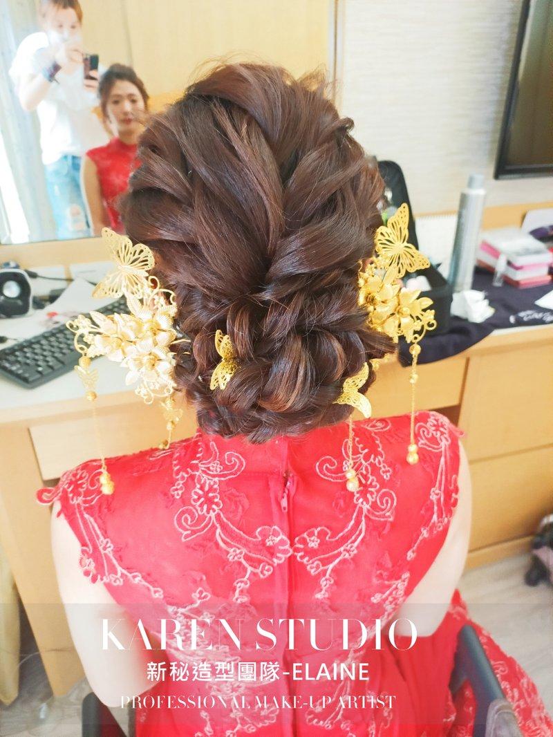 文定新娘髮型