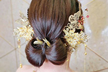 婚宴現場(指定蝴蝶結編髮