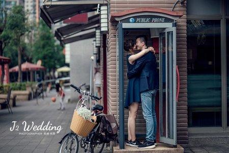 J2 wedding 板橋 中壢(美式婚紗)台北街景