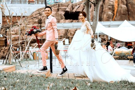 J2 wedding (自然美式婚紗) 鳳梨 口罩 摩天輪˙