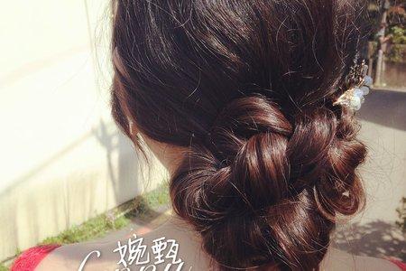 花式的低盤髮