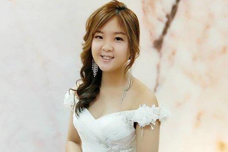 新娘白紗長髮造型