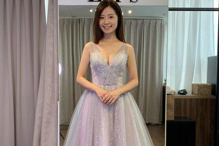 灰紫色晚禮服