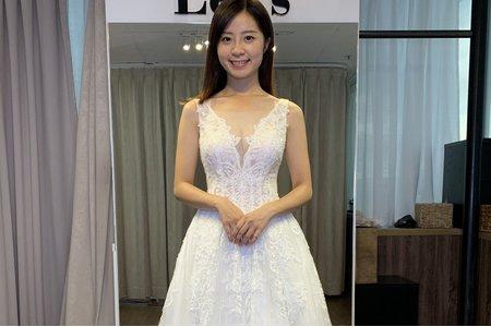 背心式手工訂製白紗