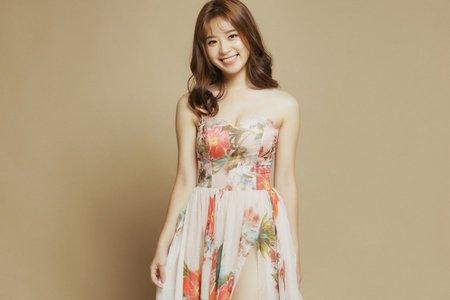 花布垂袖仙氣晚禮服