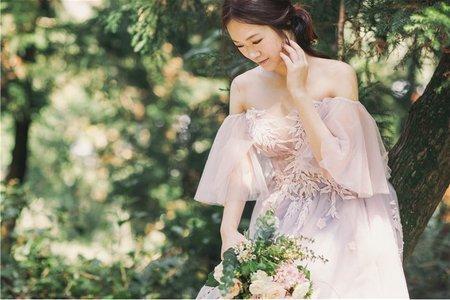 紫色垂袖仙女戰袍