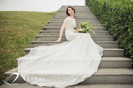 自助婚紗|短髮新娘造型
