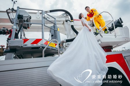 消防婚紗照