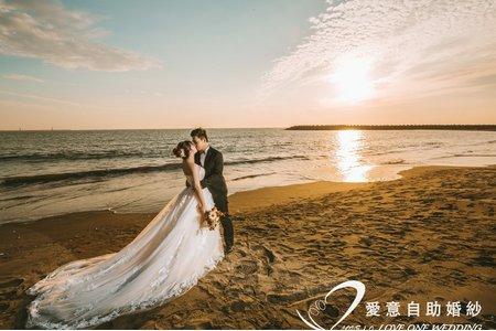 夕陽婚紗照|愛意婚紗攝影工作室