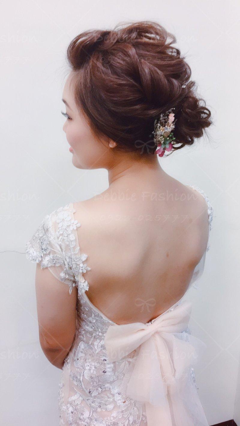 自助婚紗外拍髮妝作品