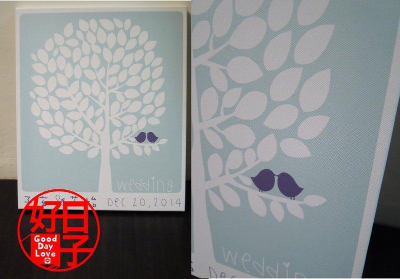 客製化 婚禮簽名樹/指紋樹無框畫作品