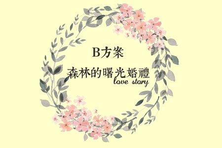 B方案-森林的曙光婚禮四件套裝(優惠價)
